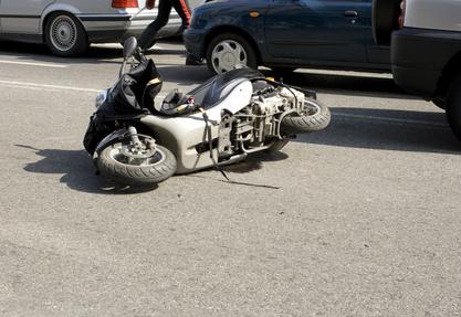 תאונת דרכים - אופנוע